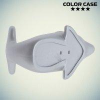 Настольная подставка для телефона Дельфин - Серебряный