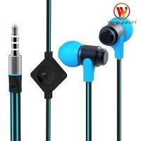 Наушники гарнитура с микрофоном Wallytech WHF-116 Черно синие