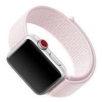 Нейлоновый ремешок на липучке для Apple Watch 38-40mm 2/3/4 Series Розовое золото