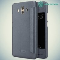 Nillkin чехол книжка с окном для Huawei Mate 10 - Sparkle Case Серый