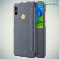 Nillkin чехол книжка с окном для Xiaomi Redmi Note 5 / 5 Pro - Sparkle Case Серый