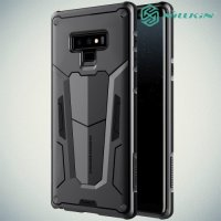 Nillkin Defender Бронированный противоударный двухслойный чехол для Samsung Galaxy Note 9 - Черный