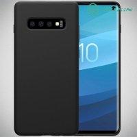 NILLKIN Flex Мягкий силиконовый чехол для Samsung Galaxy S10 с микрофибровой подкладкой черный