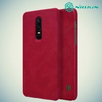 NILLKIN Qin чехол флип кейс для OnePlus 6 - Красный