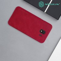 NILLKIN Qin чехол флип кейс для Samsung Galaxy J4 2018 SM-J400F - Красный