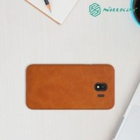 NILLKIN Qin чехол флип кейс для Samsung Galaxy J4 2018 SM-J400F - Коричневый