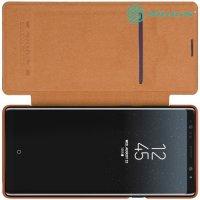 NILLKIN Qin чехол флип кейс для Samsung Galaxy Note 9 - Коричневый