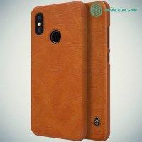 NILLKIN Qin чехол флип кейс для Xiaomi Mi 8 - Коричневый