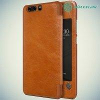 Nillkin Qin Series чехол книжка для Huawei P10 Plus - Коричневый