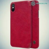 Nillkin Qin Series чехол книжка для iPhone X - Красный