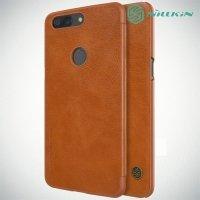 Nillkin Qin Series чехол книжка для OnePlus 5T - Коричневый