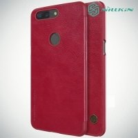 Nillkin Qin Series чехол книжка для OnePlus 5T - Красный