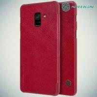 Nillkin Qin Series чехол книжка для Samsung Galaxy A8 2018 - Красный