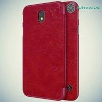Nillkin Qin Series чехол книжка для Samsung Galaxy J7 2017 SM-J730F - Красный