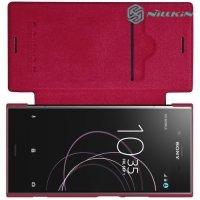 Nillkin Qin Series чехол книжка для Sony Xperia XZ1 - Красный
