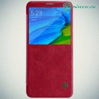 Nillkin Qin Series чехол книжка для Xiaomi Redmi Note 5 / 5 Pro - Красный