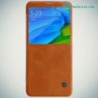 Nillkin Qin Series чехол книжка для Xiaomi Redmi Note 5 / 5 Pro - Коричневый