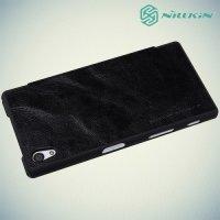 Nillkin Qin Series чехол книжка для Sony Xperia Z5 - Черный