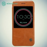 Nillkin Qin Series чехол книжка для HTC 10 / 10 Lifestyle - Коричневый