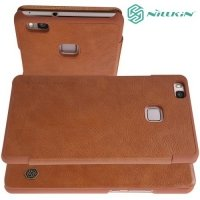 Nillkin Qin Series чехол книжка для Huawei P9 lite - Коричневый