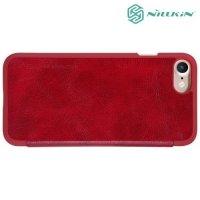 Nillkin Qin Series чехол книжка для iPhone 8/7 - Красный