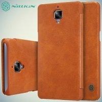Nillkin Qin Series чехол книжка для OnePlus 3 - Коричневый