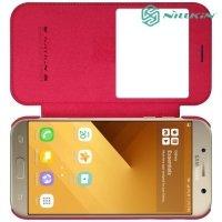 Nillkin Qin Series чехол книжка для Samsung Galaxy A3 2017 SM-A320F - Красный