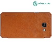 Nillkin Qin Series чехол книжка для Samsung Galaxy A5 2016 SM-A510F - Коричневый