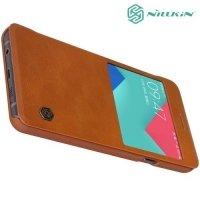Nillkin Qin Series чехол книжка для Samsung Galaxy A7 2016 SM-A710F - Коричневый