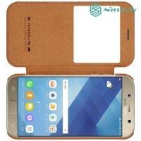 Nillkin Qin Series чехол книжка для Samsung Galaxy A7 2017 SM-A720F - Коричневый