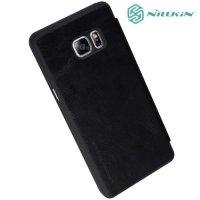 Nillkin Qin Series чехол книжка для Samsung Galaxy Note 7 - Черный