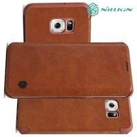 Nillkin Qin Series чехол книжка для Samsung Galaxy S6 Edge Plus - Коричневый