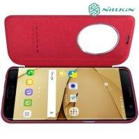 Nillkin Qin Series чехол книжка для Samsung Galaxy S7 Edge - Красный