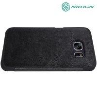 Nillkin Qin Series чехол книжка для Samsung Galaxy S7 - Черный