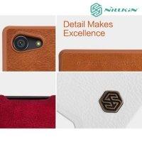 Nillkin Qin Series чехол книжка для Sony Xperia Z5 Compact - Коричневый