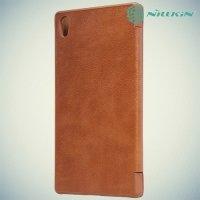 Nillkin Qin Series чехол книжка для Sony Xperia Z5 Premium - Коричневый