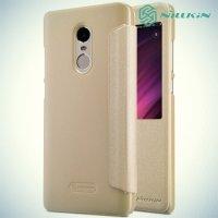 Nillkin с умным окном чехол книжка для Xiaomi Redmi Note 4X - Sparkle Case Золотой