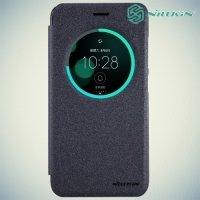 Nillkin с умным окном чехол книжка для Asus Zenfone 3 ZE520KL - Sparkle Case Серый