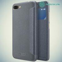Nillkin с умным окном чехол книжка для ASUS ZenFone 4 Max ZC554KL - Sparkle Case Серый