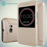 Nillkin с умным окном чехол книжка для HTC 10 / 10 Lifestyle - Sparkle Case Золотой