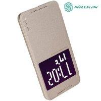 Nillkin с умным окном чехол книжка для HTC One X9 - Sparkle Case Золотой