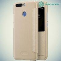 Nillkin с умным окном чехол книжка для Huawei Honor 8 Pro - Sparkle Case Золотой