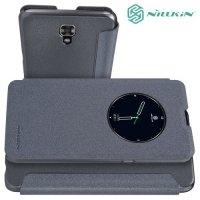Nillkin с умным окном чехол книжка для LG X view - Sparkle Case Серый