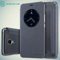 Nillkin с умным окном чехол книжка для Meizu M3 Note - Sparkle Case Серый
