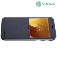 Nillkin с окном чехол книжка для Samsung Galaxy A3 2017 SM-A320F - Sparkle Case Серый