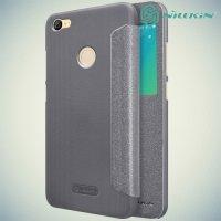 Nillkin с окном чехол книжка для Xiaomi Redmi Note 5A Prime 3/32GB - Sparkle Case Серый