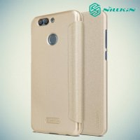 Nillkin Sparkle флип чехол книжка для Huawei nova 2 Plus - Золотой