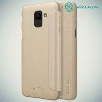 Nillkin Sparkle флип чехол книжка для Samsung Galaxy J6 2018 SM-J600F - Золотой