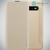 Nillkin Sparkle флип чехол книжка для Samsung Galaxy S10 - Золотой