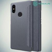 Nillkin Sparkle флип чехол книжка для Xiaomi Mi 8 SE - Серый